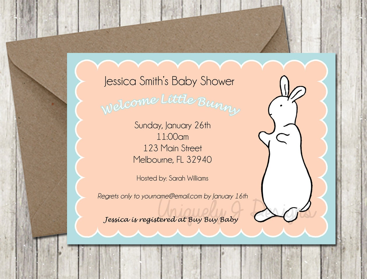 pat the bunny baby shower invitation by uniquelyjdesigns on etsy