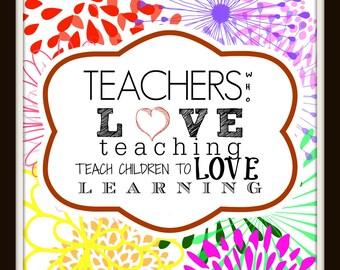 Teacher Appreciation Print