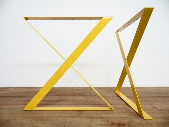 Items Similar To 28 X Frame Flat Steel Table Legs 28