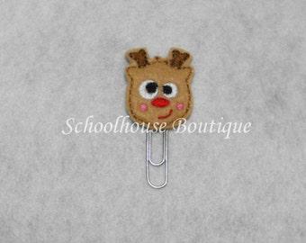 Silly Reindeer felt paperclip bookmark, felt bookmark, paperclip bookmark, feltie paperclip, christmas gift, teacher gift