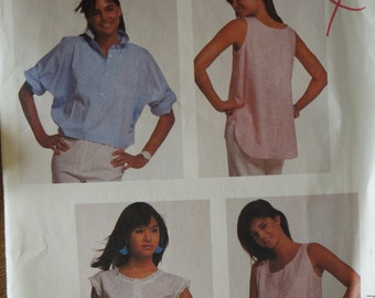 McCalls 3206, size 8, shirts, tops, blouses, misses, girls, teens, UNCUT sewing pattern, craft supplies
