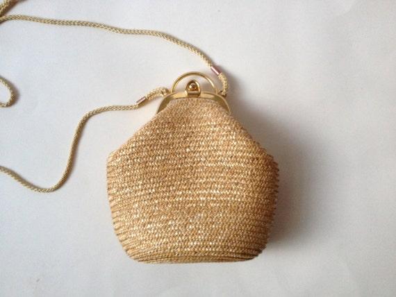 vintage sac paille sac de paille vintage sac main paille. Black Bedroom Furniture Sets. Home Design Ideas