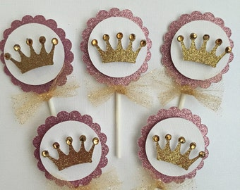 Sparkly Princess cupcake topper