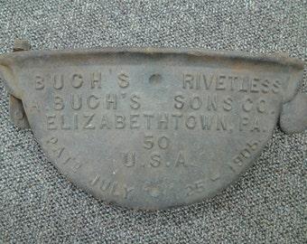 Antique Cast Iron Plate - PA
