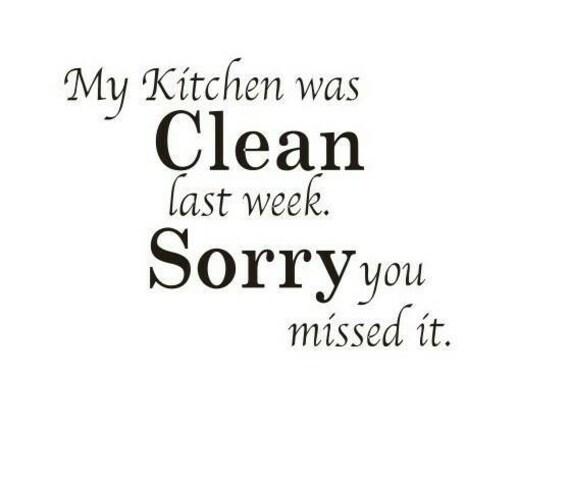 Clean Kitchen Quotes: My Kitchen Was Clean Sorry Stencil By Jennastencils On Etsy