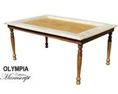 Unique Coffee table in gold and white manuscript french style exclusive design furniture for your home italian furniture OLYMPIA