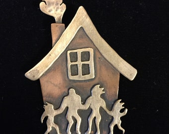 Happy Home Brooch