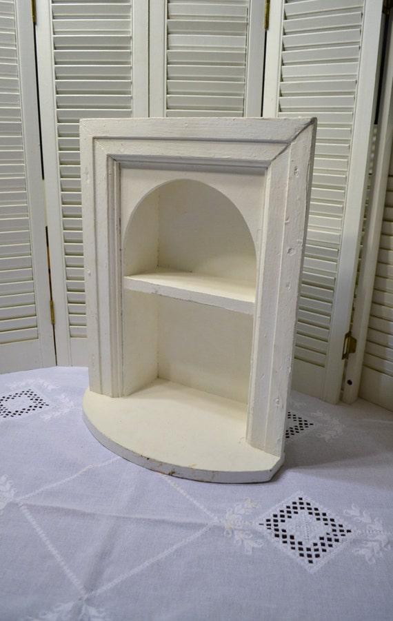 Vintage Wooden Shelf White Built In Shelf Architectural