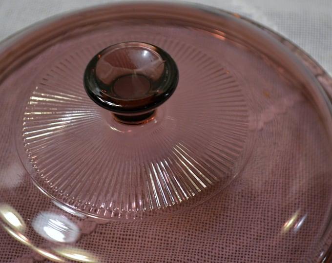 Vintage Pyrex Visions Cranberry Lid V 1.5 C Replacement PanchosPorch