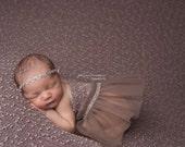 Newborn Skirt Prop; Newborn Girl Skirt; Taupe Tutu Skirt; Newborn Tutu Skirt; Newborn Photo Prop; Newborn Girl Prop; Baby Skirt