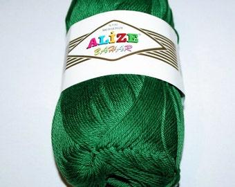Summer green yarn. Mercerized cotton.