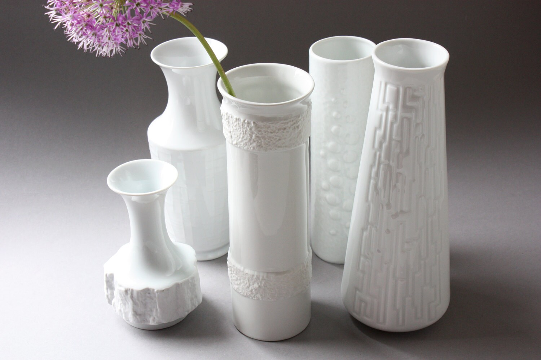 oca kunst germany wei e vase porzellanvase wei blumenvase. Black Bedroom Furniture Sets. Home Design Ideas