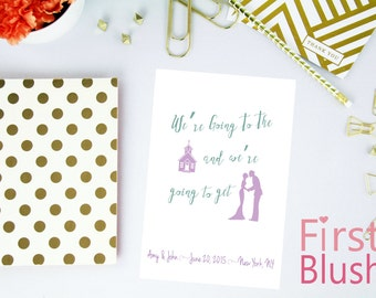 Save the Date Card - Going to the Chapel - Digital Printable Custom