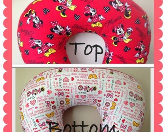 Minnie Mouse Disney Red Flannel Cotton Boppy Cover