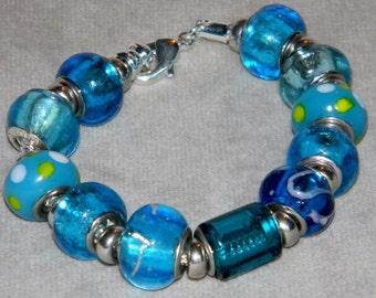 Beaded bracelet - blues