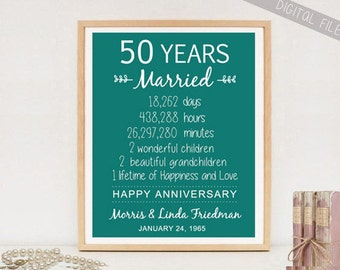 Wedding Gifts Years Married : gift 50 years wedding anniversary personalized 1967 wedding ...