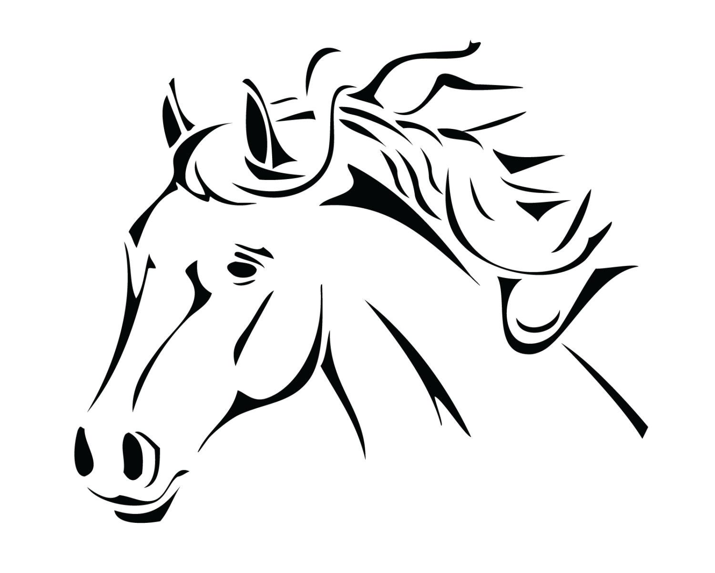 Tribal Horse Decal Beautiful Horse Sticker Horse Design