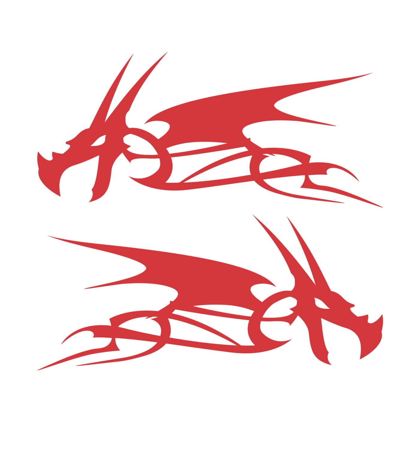 Dragon Head Flame Vinyl Decal Stickers Motorcycle Gas Tank - Vinyl stickers for motorcycles