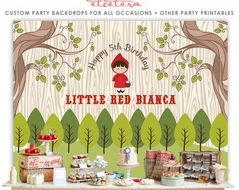 Little Red Riding Hood Backdrop - in Digital file, YOU PRINT