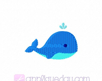 Mini Whale Digital Embroidery Design Instant Download