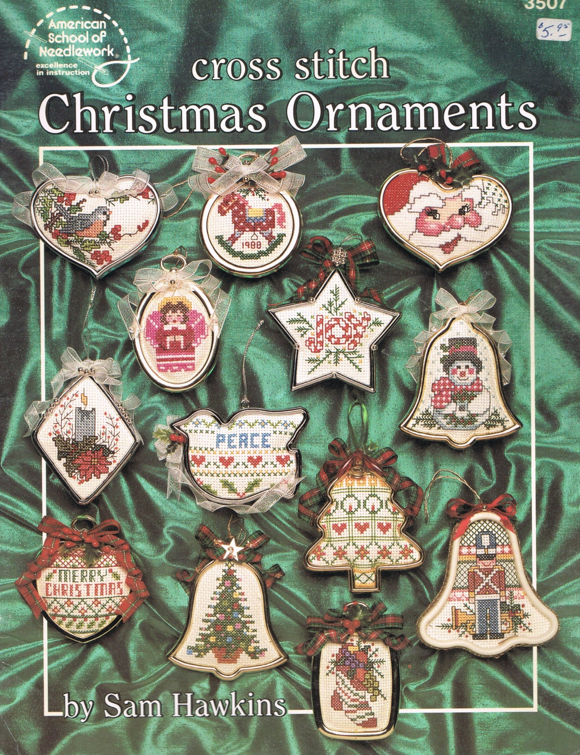 CROSS STITCH PATTERN Cross Stitch Christmas Tree Ornaments
