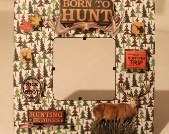 Born to Hunt Hunter hunting  3D sticker frame husband  gift