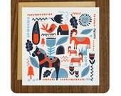 Scandinavian inspired, blank greeting card