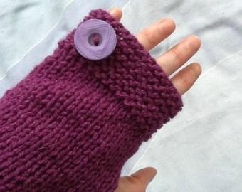 Long Purple Gloves, Purple Arm Warmers, Knitted Arm Warmers, Long Knitted Gloves, Woolly Long Gloves, Woolly Arm Warmers, Fingerless Gloves