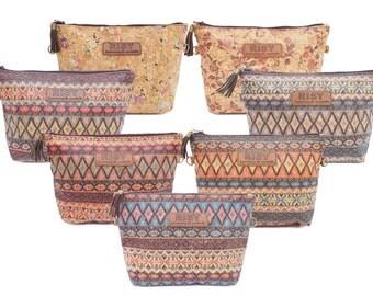 Cork Sling Bag / Mini Shoulder Bag / Makeup Bag / Cosmetic Bag