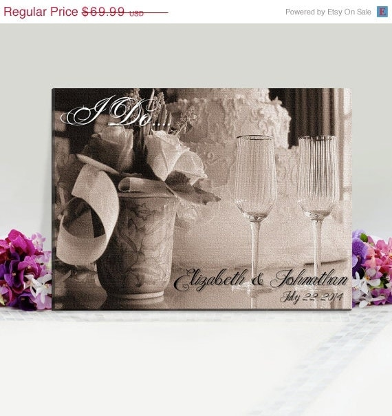 Personalized Wedding Canvas: Personalized Wedding Canvas Print 18x24 By CreativeByClair