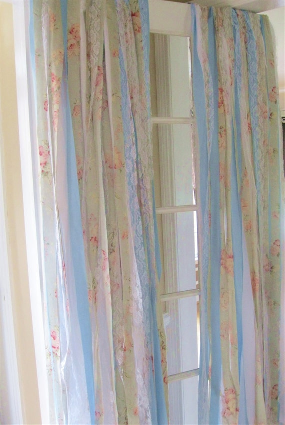 Shabby chic curtains window curtains by elizabethanddaniel Shabby chic curtain window