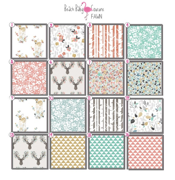 Fawn Fitted crib Sheet Changing Pad Cover by BeachBabyCouture