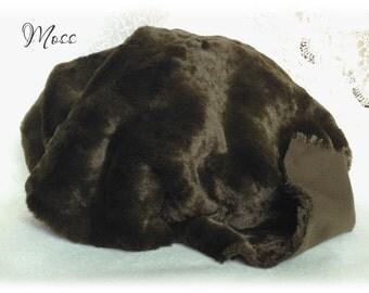 Italian VISCOSE Plush Fabric Fur Moss Green Colour 8-9 mm pile 1/8 metre or more teddy bear making supplies