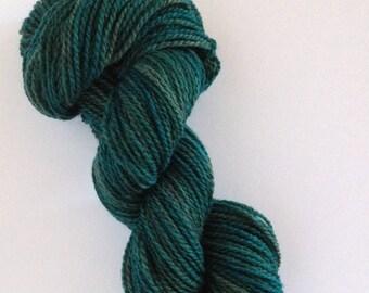 Hand-dyed 100% Peruvian Wool Yarn---Everglade