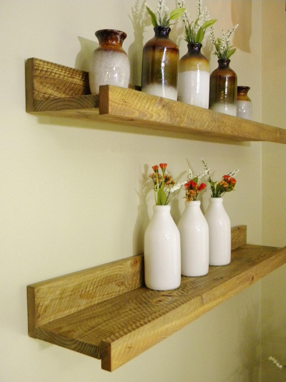 Floating Shelf Storage Organization Wood Shelving Wall