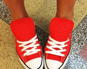 Polka Dot Converse Shoes Rockabilly