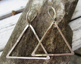 Triangle Earrings with lever backs