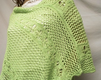 Knit poncho,Lime Green,knit,Poncho ,Free shipping in the US