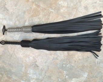 Long Fall - ChainMail Handle Flogger  (For Consensual Kink Play)