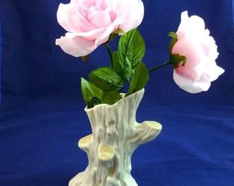 BELLEEK PARIAN WARE Irish Porcelain Tree Trunk Vase Belleek Irish Porcelain Parian Ware Vase Tree Trunk Made in Ireland by Belleek Tree Vase