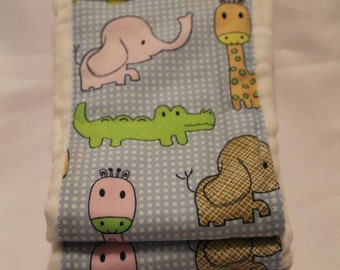 Set of 2 Baby Animal Print Cloth Diaper Burp Cloths