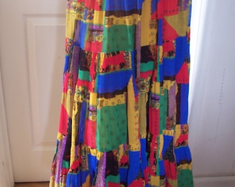 Janine Pauporte Stunning Authentic Vintage * 80's Gypsy Skirt Sz