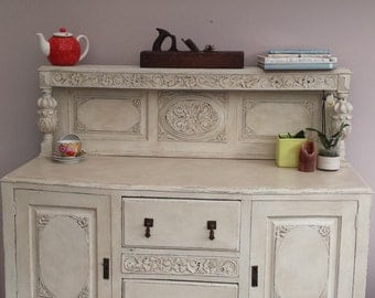 Hand painted shabby chic sideboard, buffet