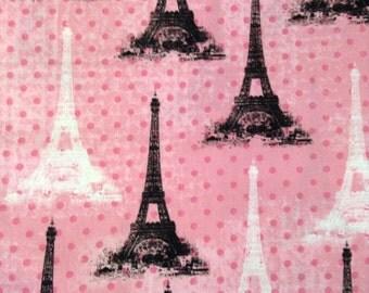 One Half Yard of Fabric Material - Eiffel Tower