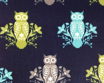 SALE - One Half Yard of Fabric Material - Folk Owls