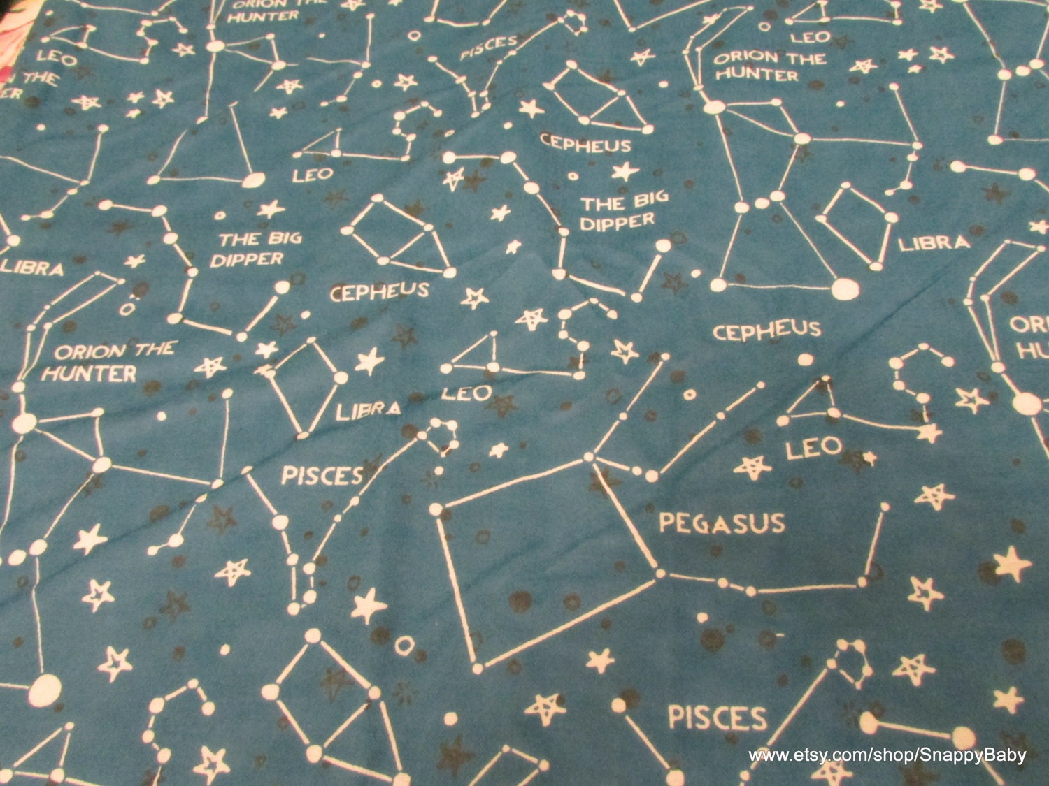 flannel fabric remnant astrology constellations 35 inches ForAstrology Fabric
