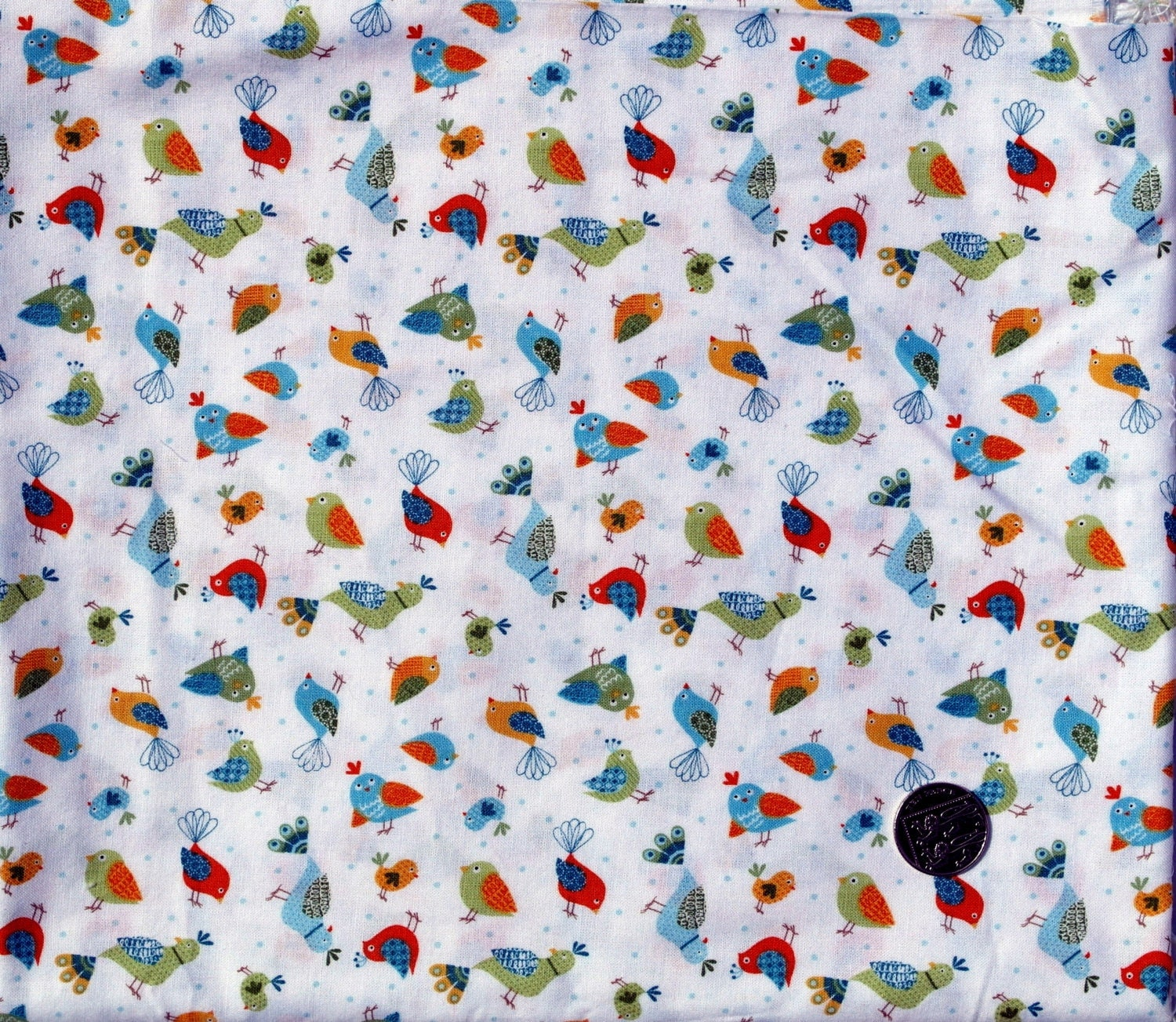 Fabric children 39 s novelty fabric birds on a by thequiltingbird for Kids novelty fabric