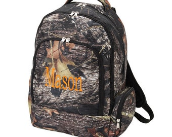 Camo backpack, Woods Backpack, Embroidered Backpack, Elementary backpack, Camoflauge backpack, personalized backpack