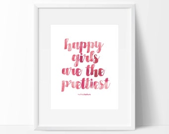 Printable Pink Audrey Hepburn Quote, Motivational Art, Typography, Quote Wall Print, Home Decor