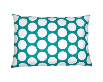 Cushion cover points DANDIE turquoise and white 40 x 60 cm
